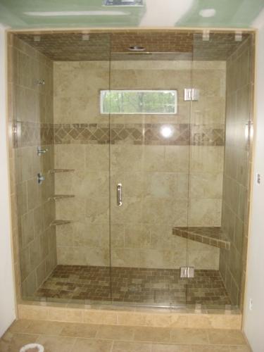 Frameless Glass Shower Enclosures   All South Granite LLC
